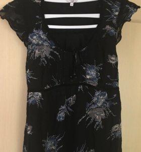 Летнее шифоновое платье в пол