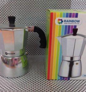 Гейзерная кофеварка Rainbow 300 ml