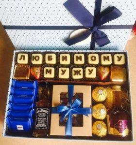 Подарок мужской , коробочка мужская