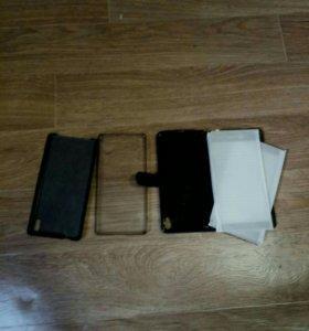 3 чехла Sony Xperia XA Ultra + 2 защитных стекла.