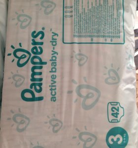 Pampers 3, 42 шт