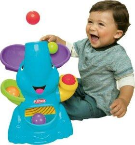 Слоник-фонтан Playskool голубой