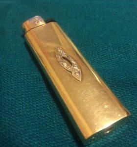Эксклюзивная зажигалка, золото 585 пр. бриллианты!