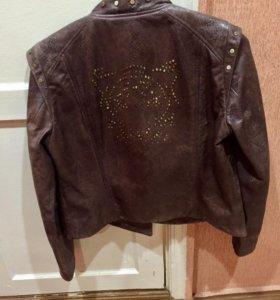 Куртка из натур. кожи новая