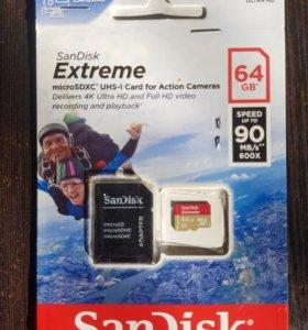 Карта памяти micro SD SanDisk 64 GB