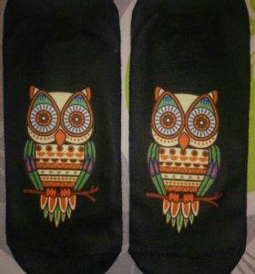 Носки с совами