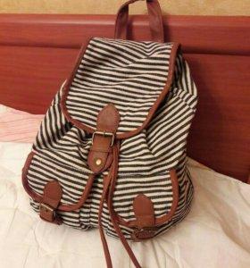 Женский рюкзак в полосочку