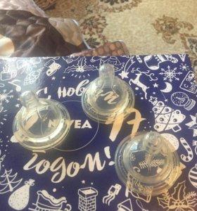 Новые соски для бутылочек авент классик