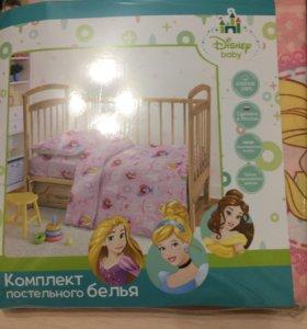 Комплект детского постельного белья для малышек