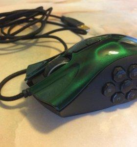 Мышь проводная Razer Naga Hex Green