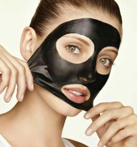 Черная маска для проблемной кожи лица