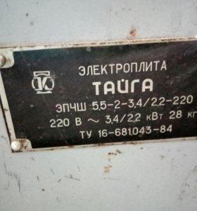 "Электроплита ""тайга"""