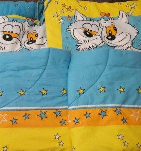 Бортики на детск.кроватку