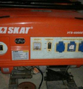 Бензиновый генератор skat УГБ -6000Е
