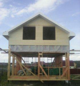 Каркасный дом баня дача