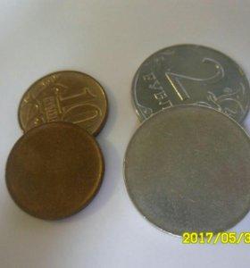 Полный непрочекан обоих сторон монеты!!!