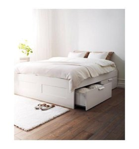БРИМНЭС Каркас кровати с ящиками 140х200см из IKEA
