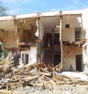 Снос стареньких домов зачистка территории!