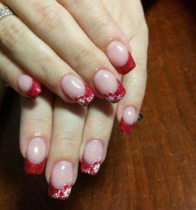 Наращивание ногтей гелем на ТИПСАХ