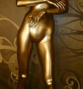 Манекен женский разборный золотой (Италия)