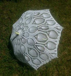 Зонт вязаный
