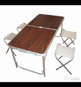 Туристический раскладной стол с стульями