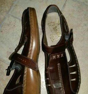 Новые туфли Rieker, кожа.