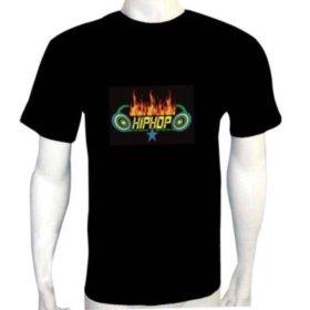 Эквалайзерны футболки светятся в такт музыки