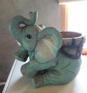 Кашпо для цветов Слон