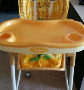 Детский стульчик для кормления (складной)