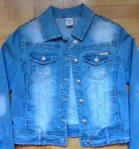 Стильный джинсовый пиджак, размер 28, пр-во Турция