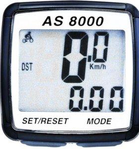 Велокомпьютер беспров-й AS-8000 (8 функций)(Новый)