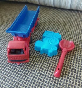 Игрушка машина+ лопатка, формочка