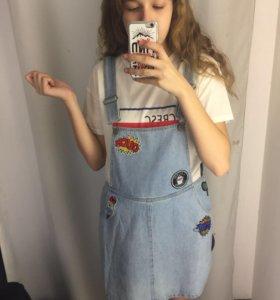 Платье-комбинезон джинсовое