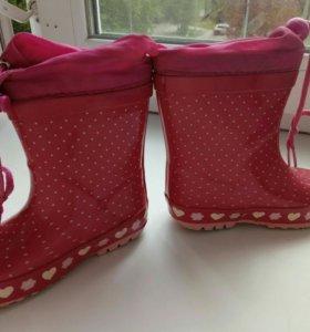 Сапоги резиновые для девочки 23 р-р