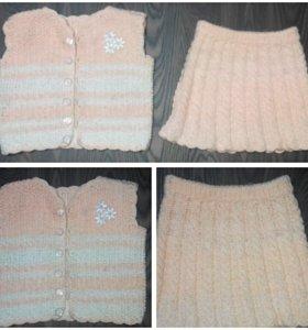 Продам желетку и юбку для девочки 1,5-2 года