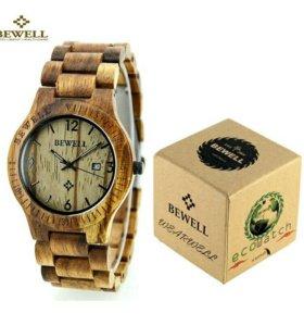 Подарочные деревянные часы Bewell