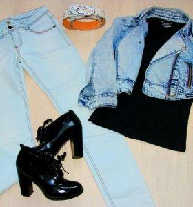 Модный комплект одежды на стройную девушку
