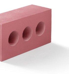 Кирпич розовый силикатный