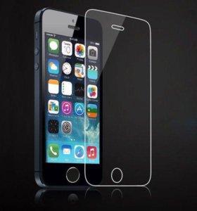 Защитное Закаленное Стекло на iPhone 5/5C/5S/SE