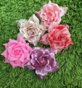 Цветочки-заколки для волос