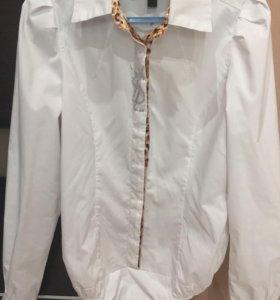 Белая рубашка-боди