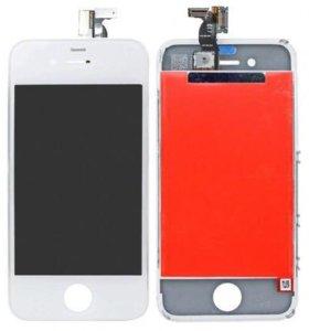 Дисплей iPhone 4 + тачскрин белый замена