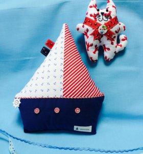 Текстильные кораблики