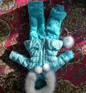 Kiko зимний комбинезон 74-80