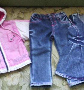 Вещи и обувь на девочку от 74 до 86 размера