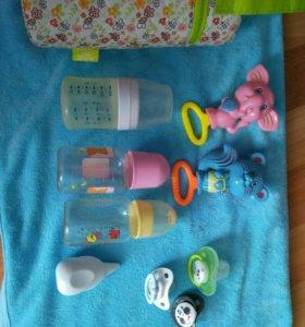Бутылочки для кормления,асператор,соска,термос