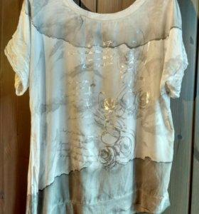 Итальянская белая блузка