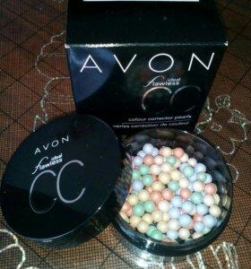 Пудра-шарики и румяна шарики от Avon