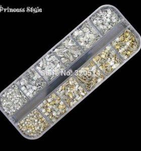 Металлические украшения для ногтей